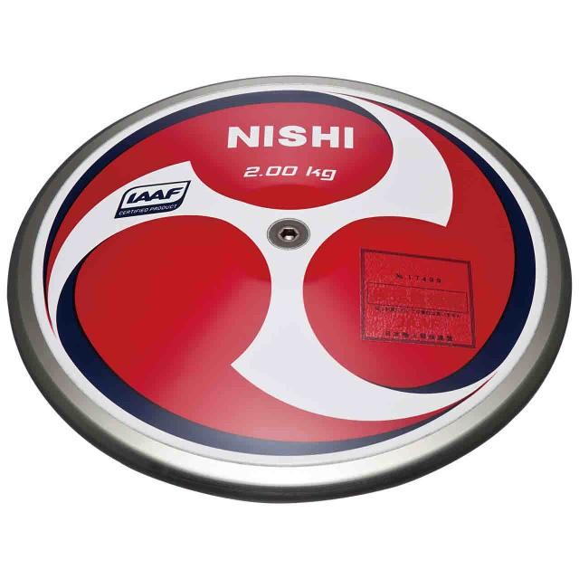 ブランド品専門の 【キャッシュレスでP5%還元】 ニシ・スポーツ 陸上競技 円盤 円盤 スーパーHMカーボン男子用 2.000kg NISHI NF311, だいもんshop 3f48bce6