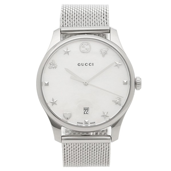 【保証書付】 グッチ 腕時計 グッチ メンズ GUCCI 腕時計 YA1264040 YA1264040 ホワイトシェル シルバー, MOBBS:935088bf --- standleitung-vdsl-feste-ip.de