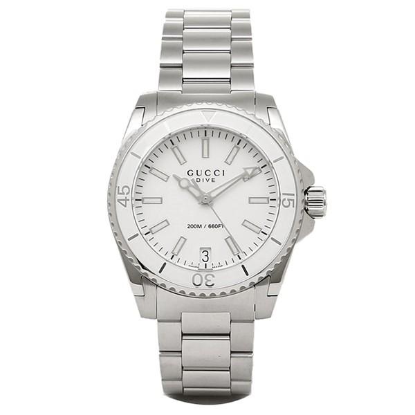 値引きする グッチ DIVE 時計 GUCCI YA136402 GUCCI DIVE 腕時計 ウォッチ ホワイト YA136402/シルバー レディース, 東京OSHARE:729ec0a0 --- 1gc.de