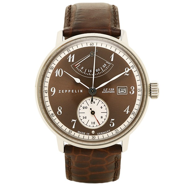 祝開店!大放出セール開催中 ツェッペリン 時計 メンズ ZEPPELIN 70605 LZ129 ヒンデンブルグ 自動巻 腕時計 ウォッチ ブラウン/ブラウン, 最新エルメス e45a6778