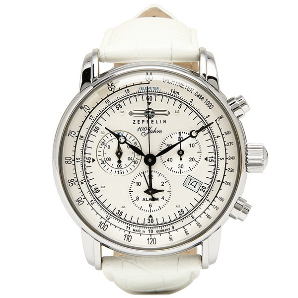 日本限定 腕時計 限定モデル ZEPPELIN 100周年記念 メンズ 100 SPECIAL 76801-WH 7680-1-WH 時計 ホワイト YEARS ツェッペリン EDITION-腕時計メンズ