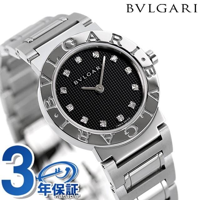 多様な 腕時計 26mm 【あす着】ブルガリ ブラック クオーツ BB26BSS/12 ブルガリブルガリ BVLGARI-腕時計レディース