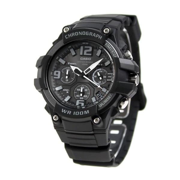 f9b905ca8b カシオ チプカシ クロノグラフ 10気圧防水 メンズ MCW-100H-1A3VCF 腕時計 ブラック
