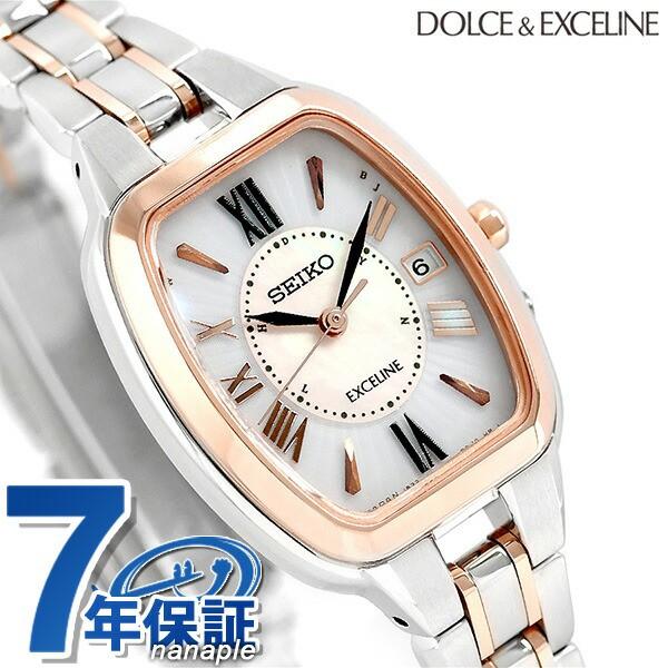 buy online ed943 02420 セイコー ドルチェ&エクセリーヌ トノー型 チタン 電波ソーラー SWCW136 SEIKO レディース 腕時計|au Wowma!(ワウマ)
