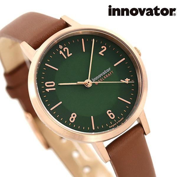 【限定価格セール!】 【あす着】イノベーター ベーシック ソルクラフト 32mm ソーラー レディース 腕時計 IN-0010-10 Innovator グリーン×ブラウン, ブルーベリーバンク 25ebdc0a