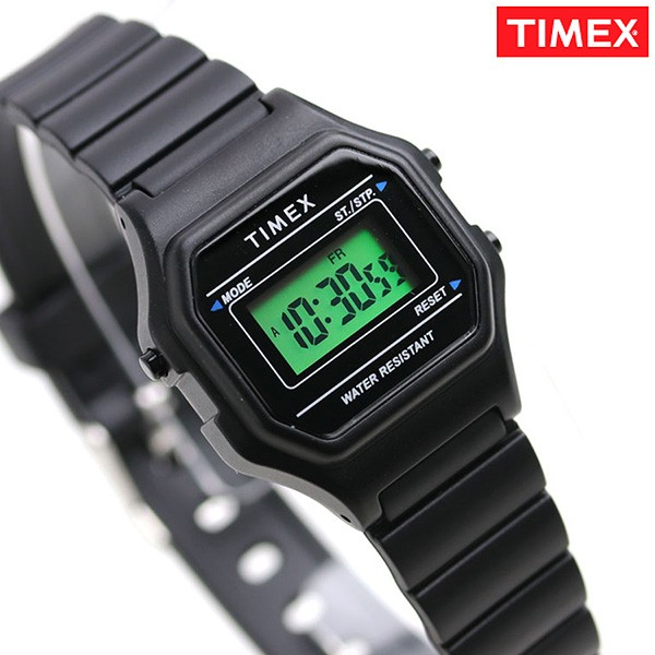 87ae42b5f1 タイメックス 腕時計 クラシック デジタルミニ レディース TW2T48700 TIMEX ブラック