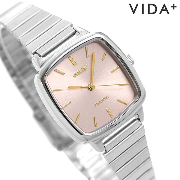【35%OFF】 【あす着】ヴィーダプラス VIDA+ 時計 ラディアル 日本製 レディース 腕時計 J86013 SLV GLD グリーン×ゴールド, 菓子工房EverGreen fdade022