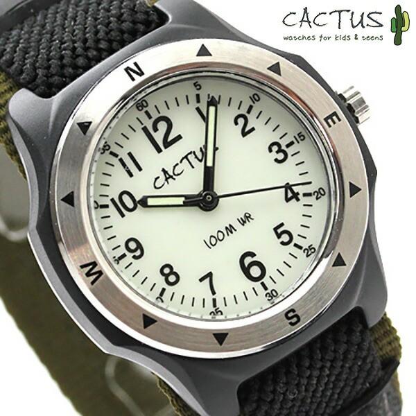 bc3692729c カクタス キッズ 子供用 腕時計 カーキ×ブラック ナイロンベルト アナログ CACTUS CAC-65-