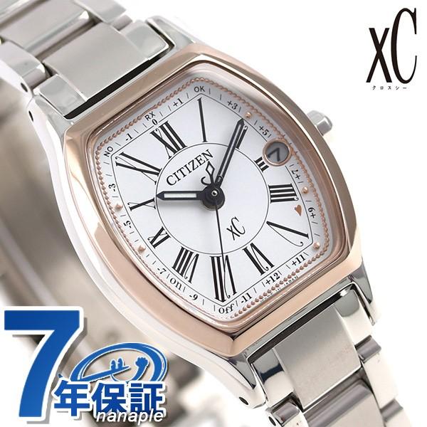 2019年新作入荷 腕時計 xC エコドライブ トノー シチズン CITIZEN サクラピンク(R) チタン レディース クロスシー 電波時計 ES9355-58A 電波ソーラー-腕時計レディース