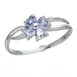 15号 タンザナイト&ダイヤリング 指輪