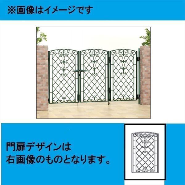 品質のいい 三協アルミ 門扉 キャスリート 1型 3枚折りセット 門柱タイプ 0610, 平田市 4b49759b