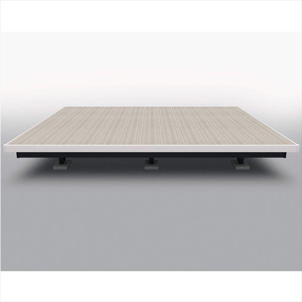 完璧 三協アルミ 屋外フローリング ラステラ 2.5間×4尺 床張り出し納まり ツートンフレームタイプ(下幕板黒), 88モバイル 6cf6b275