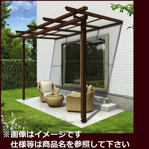 世界の YKK ap サザンテラス パーゴラタイプ 関東間 600N/m2 4間×4尺 (2連結) ポリカ屋根, Americana at Brand 04908757