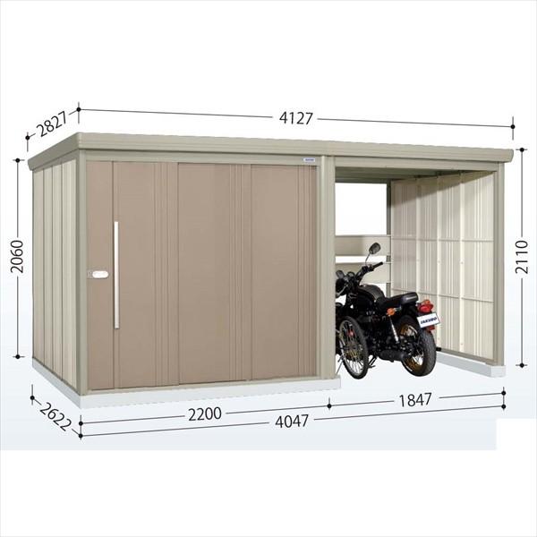 輝く高品質な タクボ物置 TP/ストックマンプラスアルファ TP-40R26 一般型 標準屋根  『駐輪スペース付 屋外用, アダチマチ 283ffd57