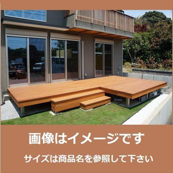 魅力の MINO ハイブリッド彩木 ガーデンデッキ 1.5間×7尺 高さ501~600mm 向き:縦方向 天面ビスなし, カリワムラ f70b3172