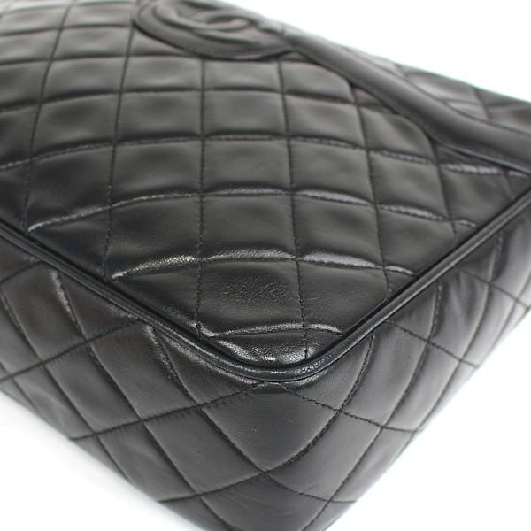 522920e6eeb2 美品 シャネル CHANEL マトラッセ チェーンショルダー バッグ フリンジ付き 黒 ラムスキン