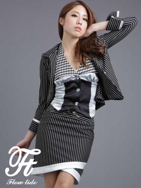 86368e160cbd0 FlowTide スーツ フロータイド キャバスーツ ナイトスーツ デザインスーツ ブラック 黒 9号 M 13