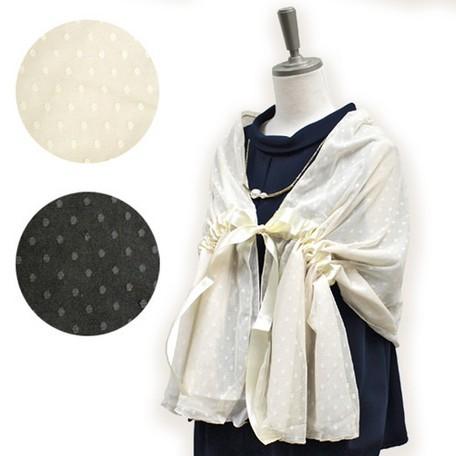 bed393d09b80f 小物 レディース ドレス ドット チュール パーティーストール オケージョン ストール ショール 羽織り