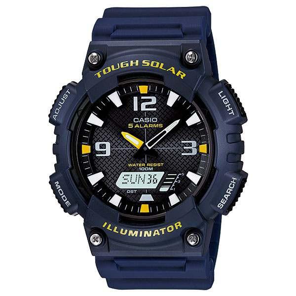 dc404f9a61 カシオ CASIO アナログ×デジタル ソーラー 腕時計 AQS810W-2A腕時計腕時計メンズ腕時計watch人気