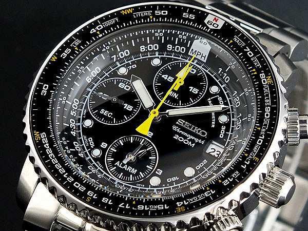 贅沢品 腕時計 メンズ セイコー SEIKO クロノグラフ アラーム SNA411P1, 栄進堂 1a0e7a40