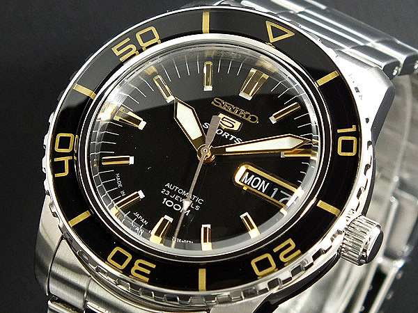 【25%OFF】 腕時計 メンズ セイコー SEIKO セイコー5 スポーツ 5 SPORTS 自動巻き SNZH57J1 ブラック, 旅行用品のホリデイホリデイ d20fb58a