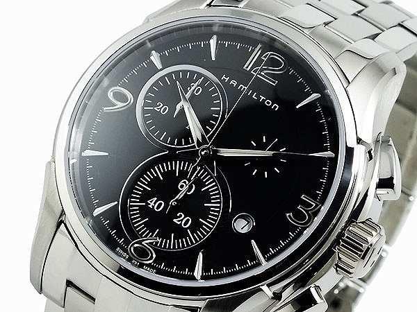 新しく着き 腕時計 クオーツ メンズ ハミルトン HAMILTON 腕時計 ジャズマスター クオーツ クロノ ハミルトン H32612135 ブラック, カブトムシ用品通販 クワガタ天国:b1b6c2eb --- 1gc.de