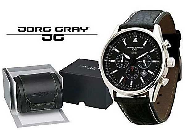 信頼 腕時計 メンズ ヨーグ グレイ JORG GRAY シークレットサービス エディション JG6500 ブラック, アクセサリーパーツ コモレビスタ cf43d8b4
