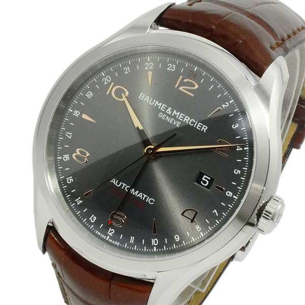 贅沢 腕時計 メンズ ボーム&メルシェ BAUME & MERCIER クリフトン 自動巻き MOA10111 チャコールブラウン, 岩内金物店 d1c196b3