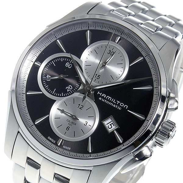 【保障できる】 腕時計 メンズ ハミルトン HAMILTON ジャズマスター クロノ 自動巻き H32596181 グレー グレー, レザークラフト一革 dedbd02e