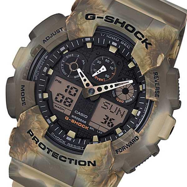人気の 腕時計 メンズ カシオ Gショック アナデジ クオーツ GA-100MM-5A ブラック/ブラウン ブラック, くすりの福太郎 c2fe3741