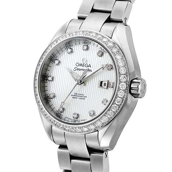 buy online 856c4 20166 腕時計 レディース オメガ OMEGA シーマスター アクアテラ 自動巻き 231.15.34.20.55.001 ホワイトパール  ホワイトパール|au Wowma!(ワウマ)