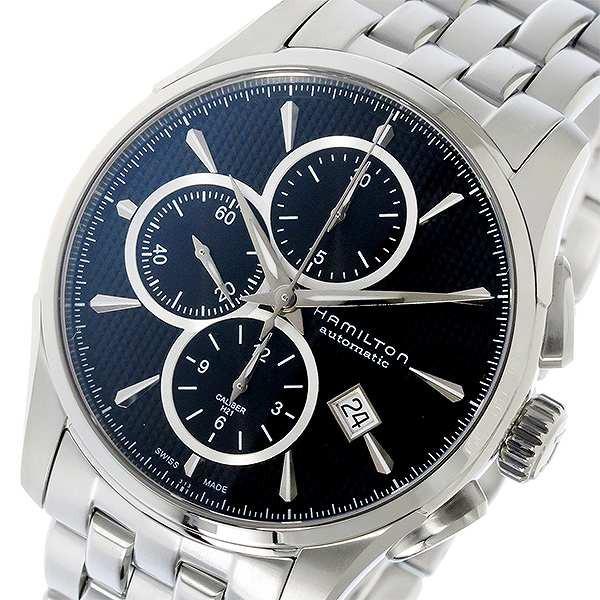 【超特価】 HAMILTON メンズ ブラック 腕時計 自動巻き JAZZMASTER H32596131 ジャズマスター ハミルトン クロノ ブラック-腕時計メンズ