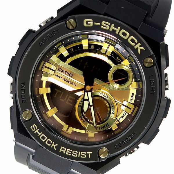 大洲市 腕時計 メンズ カシオ CASIO Gショック G-SHOCK GST-210B-1A9 ブラック×ゴールド ブラック, フジノネットショップ 56ff412b