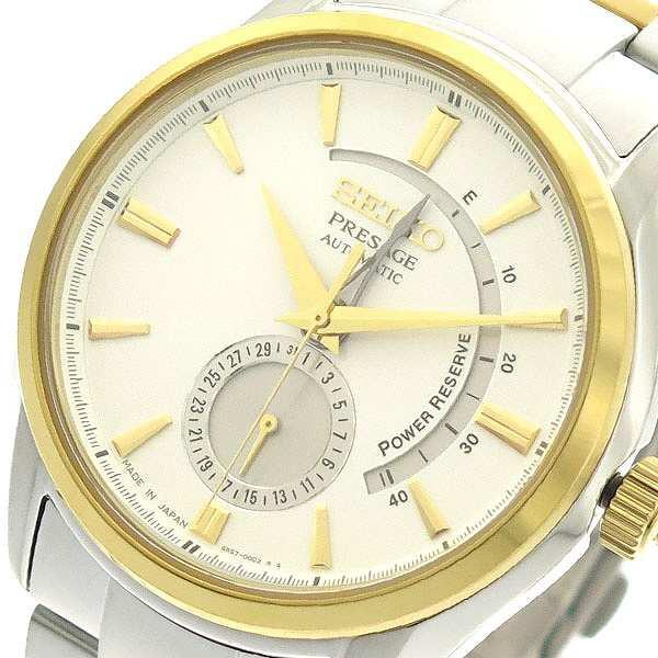 正規店仕入れの ホワイト メンズ ホワイト SEIKO セイコー シルバー 腕時計 SSA352J1 自動巻き-腕時計メンズ