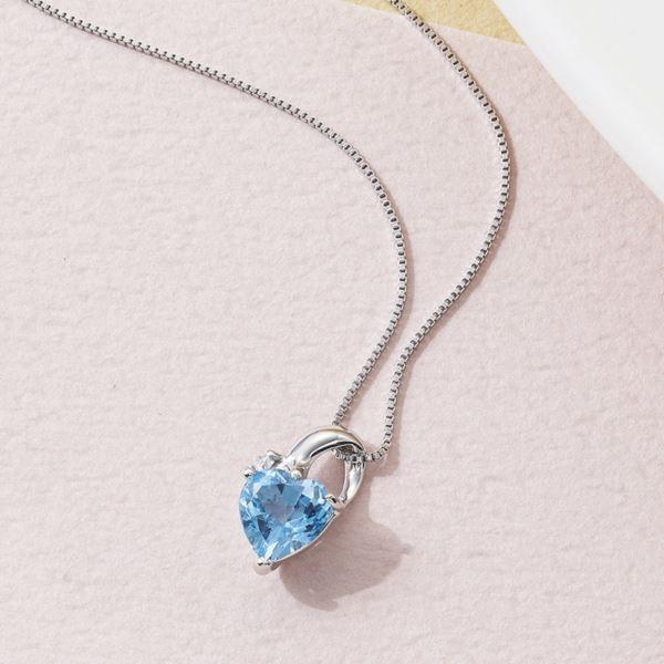 大切な ブルートパーズ&ダイヤモンドペンダント(日本製 ジュエリー アクセサリー)(内祝い 出産内祝い 結婚内祝い ギフト 引き出物 お返し), Zero collection 7823c554