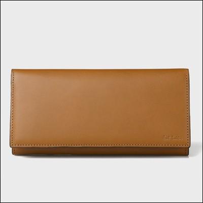 宅配便配送 ポール・スミス ポールスミス オールドレザー 長財布 ブラウン-財布