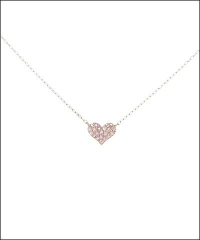【返品送料無料】 サマンサティアラ Perfect Heart ネックレス ピンク, エコデン bcb2e128