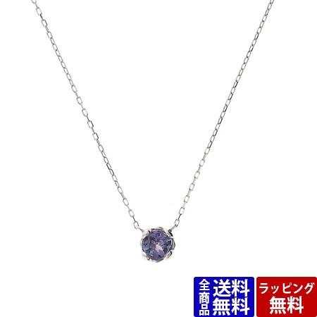【人気商品!】 Tiara ホワイト K10 Samantha 誕生石ネックレス サマンサティアラ 12月 ネックレス-ネックレス