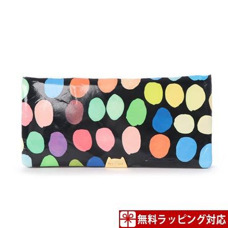 【全品送料無料】 ツモリチサト 財布 tsumotri ブラック スモールマルチドット chisato 長財布-財布