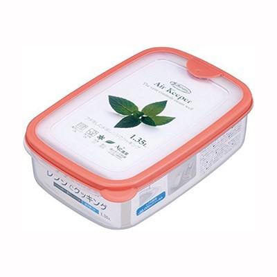 保存容器 密閉容器 プラスチック フードケース ストッカー 角型/Lサイズ オレンジ
