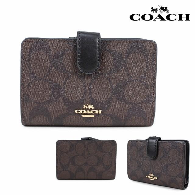 wholesale dealer 547f4 2d40d コーチ COACH 財布 二つ折り レディース レザー ブラウン F23553