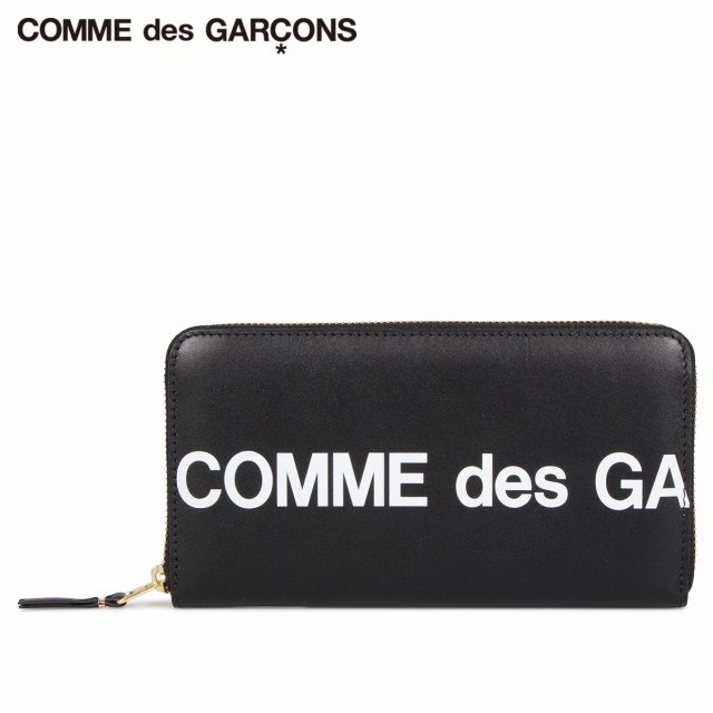 即日発送 コムデギャルソン COMME des GARCONS 財布 長財布 財布 メンズ GARCONS 黒 レディース ラウンドファスナー 本革 HUGE LOGO WALLET ブラック 黒 SA0111HL, 大注目:923fd372 --- 1gc.de