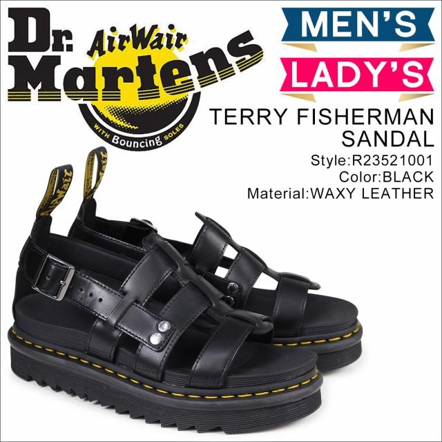 ドクターマーチン Dr.Martens サンダル テリー フィッシャーマン メンズ レディース TERRY FISHERMAN SANDAL ブラック 黒 R23521001