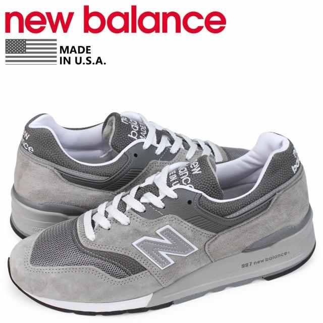 61aaa9b9109c6 ニューバランス new balance 997 スニーカー メンズ Dワイズ MADE IN USA グレー M997GY