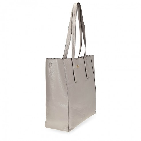 ccd54deddeaf (マイケルコース) Michael Kors NEW Pebble Leather Junie Extra Large Tote Pearl Grey  ジュニー