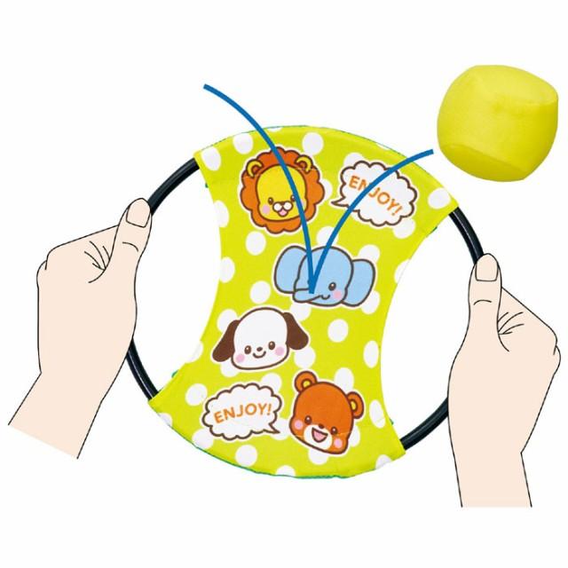 アニマルポンポンバウンド ハンドテニス 玩具 おもちゃ 室内遊び 外遊び