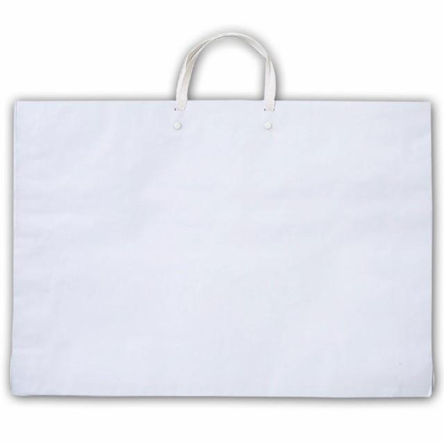 作品バッグ 紙製 白 お絵かき イラスト 手作り オリジナル バッグ かばん