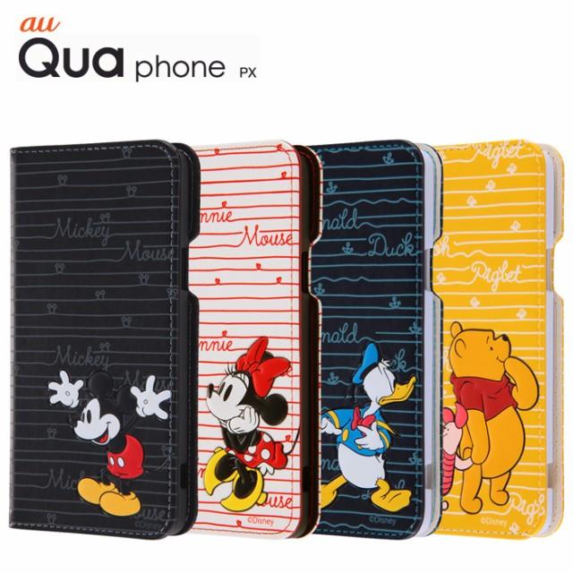 b5a7f9bbf9 Qua phone PX キュア フォン ケース/カバー ディズニー 手帳型ケース ポップアップ カーシヴ レイアウト RT