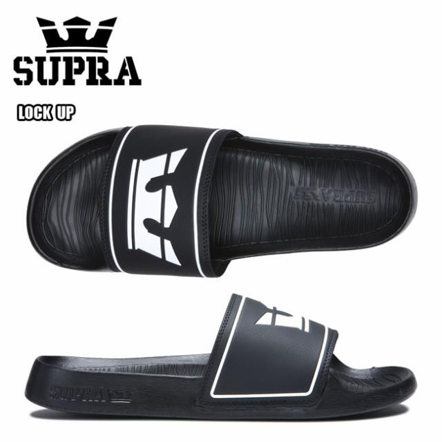 シャワーサンダル スープラ ロックアップ SUPRA LOCK UP BLACK スポーツサンダル メンズ 夏 オシャレ 人気