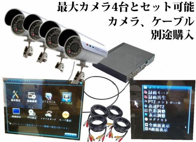 4CHデジタルレコーダー カメラ4台接続・同時録画可能 スマホでどこからでもリアルイム監視、遠隔操作 H.264 VGA/HDMI出力 DVR6404